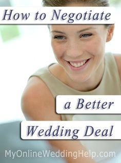 How to Negotiate Wedding Deals
