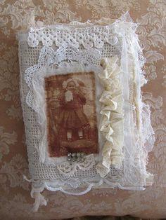sweet fabric book made by Tina ~ Tiny Bear