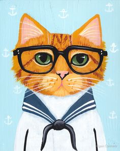 The Little Sailor by Ryan Conners #meow