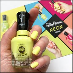 Another neon collection for Summer This one is the Sally Hansen Miracle Gel Neon Collection that should be in-store all over the place as of right, right now. Neon Nail Colors, Neon Nails, When I Grow Up, Gel Color, Sally Hansen, Swatch, Nail Polish, Collection, Favorite Things