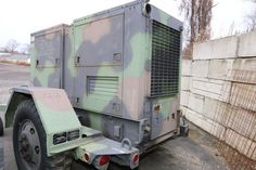 1000KW Military Generator set of diesel engine Serial-RZ01371 Engine runs, needs minor work, load tested , and works