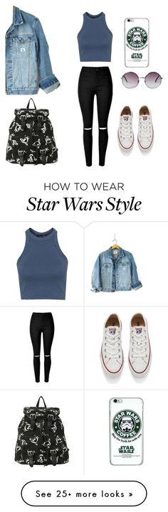 """1"" by banana-zz1 on Polyvore featuring Topshop, Calvin Klein, Converse, Monki…"