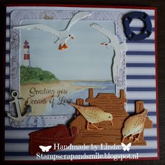 StampScrapandSmile StampScrapandSmile The post StampScrapandSmile appeared first on Knutselen ideeën. Marianne Design Cards, Beach Cards, Strand, Nautical, Handmade, Crafts, Sea, Navy Marine, Hand Made