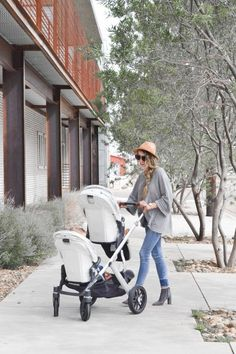 """Emily Boazman, from SodaSippinSister shared what """"Double Stroller Dreams are Made of"""" featuring the VISTA in double mode! Uppababy Vista Double, Mom And Baby, Baby Kids, Convertible Stroller, Double Strollers, Baby Hacks, Mom Style, Baby Gear, Bebe"""