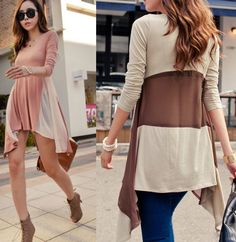 Fabric: Cotton Blend Color: pink, beige Size: Standard size ( medium size ) Size (cm): Bust 80 , Shoulder 33 , Sleeve 58 , Length 70.