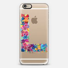 l letter floral phone case + $10 off your first order when you use the code: QBADQW on our collaboration with @Casetify, we love the range of clear cases available for lots of different phone cases not just iphones! #iphonecase #clearcase #casetify #amysia