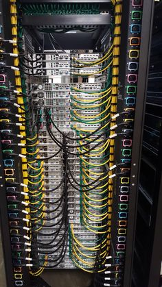Installing servers into a rack. They did a great job installing these!