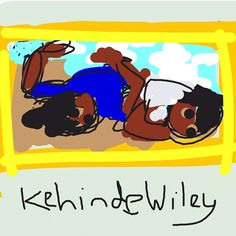 MT in museums: Khinde Wiley at Games For Change, Kehinde Wiley, Draw Something, Aviation, Art Drawings, Pikachu, Father, United States, Museums