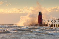 South Pier Lighthouse, South Haven Michigan