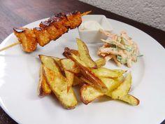 Marinierte Putenspieße mit Kartoffelecken & KarottensalatSelfConcept of Jay | SelfConcept of Jay