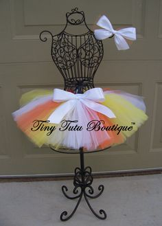 Candy Corn Cutie--Orange, Yellow, White  baby/child TUTU with FREE matching hairbow - 0-3mo, 3-6mo, 6-12mo, 12-24mo on Etsy, $22.69 AUD