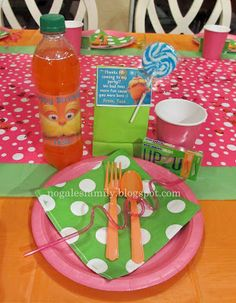Tess' Lorax party table