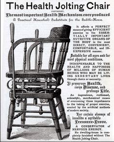 The Health Jolting Chair, Weird Vintage Ad, via Dark Roasted Blend Weird Vintage Ads, Retro Ads, Vintage Images, Funny Vintage, Vintage Labels, Vintage Ephemera, Vintage Stuff, Vintage Signs, Vintage Items