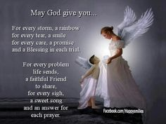 """may God give you""..."