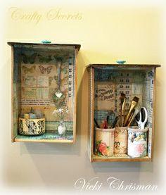 Decoupage drawers