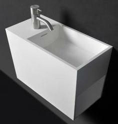 Solidwash 18 in. Wall Mounted Single Sink Bathroom Vanity with One Shelf, White Solid Surface Wall Mounted Bathroom Sinks, Single Sink Bathroom Vanity, Bathroom Basin, Bathroom Vanities, Bathrooms, Solid Surface, Surface Finish, Corner Sink, Furniture Vanity