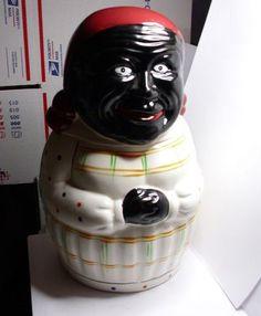 Vintage Black Americana Cookie Jar Mammy Aunt Jemima | eBay