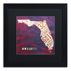 Florida License Plate by Design Turnpike Framed Graphic Art