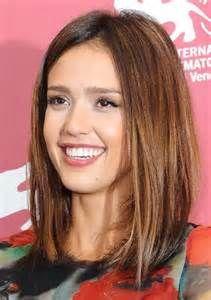 brunette medium hairstylesLong Bob Hairstyles 2013 Jessica Alba Medium ...