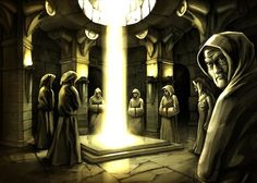 Mystic ritual (raster artwork by Oleksiy Tsuper, 2010)