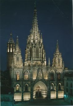 Barcelona Cathedral, nothing like it Places Ive Been, Places To Go, Gothic Cathedral, Iglesias, Barcelona Cathedral, Medieval, Spain, Wanderlust, Around The Worlds