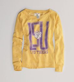 LSU Vintage Fleece Pullover. Can't believe this is American Eagle! WANT!
