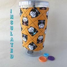 Fat Cat Coffee sleeve Cup cozy beverage koozie by DeegeeMarieGifts
