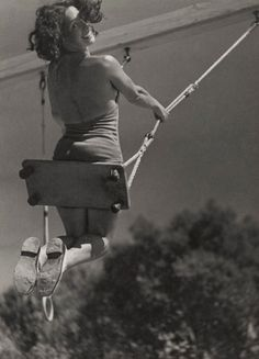 Lily by André Steiner, 1934 | swing | swinging | play | joy | free | freedom | fun | smiles | higher | 1930's  | www.republicofyou.com.au