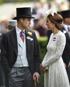 June 20, 2017 ~ Prince William, Duke of Cambridge and Catherine, Duchess of Cambridge attend Day 1 of Ascot.
