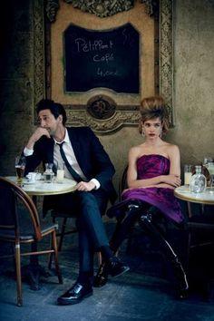 Natalia Vodianova y Adrien Brody se torna románticos para en número de julio de Vogue | Our Steps Got Style