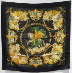Authentic Hermes Cavaliers Des Nuages Silk Scarf In Black. Get the lowest price on Authentic Hermes Cavaliers Des Nuages Silk Scarf In Black and other fabulous designer clothing and accessories! Shop Tradesy now