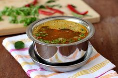 Udupi tomato rasam is a classic among authentic Udupi vegetarian recipes. Comforing, warming soup on a cold winter day,