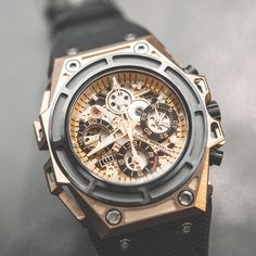 Linde Werdelin Spidospeed Chronograph Rosegold Black
