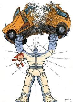 'Big Guy and Rusty the Boy Robot' por Geof Darrow.