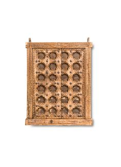 Enrich your enviable antiques collection with this absolutely stunning Wooden Window with Elegant Carved Design from India. A great example of the richness of India's ancient culture and the excellent craftsmanship of the Indian artisans, this window will be a great accent piece for any setting. The window boasts of an ornate frame carved with patterns that draws inspiration from …