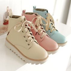 Size is for Foot B(M) US D(M) US Men = EU size 35 = Shoes length Fit foot length Sweet student Martin boots Kawaii Shoes, Kawaii Clothes, Kawaii Outfit, Flat Boots, Shoe Boots, Shoe Bag, Ugg Boots, Combat Boots, Mode Shoes