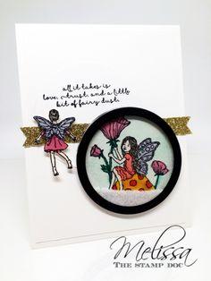 Fairy Celebration Shaker Card by Melissa Stout