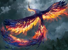 Spellfire Phoenix by Svetlin Velinov - Your Daily Dose of Amazing beautiful Creativity and Digital Art - Fantasy Characters: Archers Assassins Astronauts Boners Knights Lovers Mythology Nobles Scholars Soldiers Warriors Witches Wizards Mystical Animals, Mythical Creatures Art, Mythological Creatures, Magical Creatures, Fantasy Creatures, Monster Art, Fantasy Monster, Monster Design, Animal Espiritual