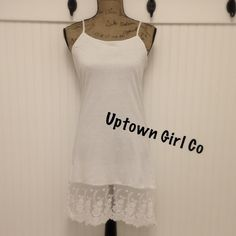 Dress Extender/, Lace Slip Dress Extender, Dress 100% cotton new item. Large cotton dress extender. I have these in 6 Uptown Girl Co Intimates & Sleepwear Chemises & Slips