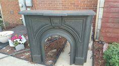 Art Deco, Antique Cast Iron Fireplace Surround, Fireplace, Fireplace Mantle, Fireplace Front, 1900's, Bedroom Decor, Cabin Decor, Cast Iron by ANTFOUNDANTIQUES on Etsy