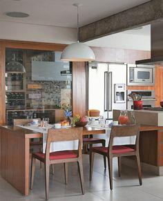 stilvolle einrichtung der küche rote polsterung