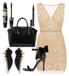 """Untitled #157"" by perlahak on Polyvore featuring Nicole Miller, Miss Selfridge, Givenchy, Max Factor and Smith & Cult"