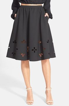 Elizabeth+and+James+'Lex'+Perforated+A-Line+Skirt+available+at+#Nordstrom