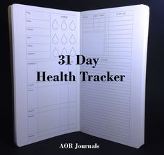 Midori Insert 31 Day Health Tracker for Midori or Fauxdori Travelers Notebook Covers 10 Travelers Notebook Sizes 26 Cover Colors. by AORJournals from AOR Journals by Ann. Find it now at http://ift.tt/2cDL3l0!