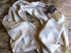 Ahimsa Peace Silk and Eri Wild Silk Reversible Scarf by SheGathers