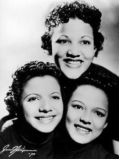 The Dandridge Sisters singing group: Vivian Dandridge (Dorothy's sister, top), Etta Jones (lower left) & Dorothy Dandridge. The Dandridge Sisters were a hit at New York's Cotton Club. While on tour in England, Dorothy announced that she was leaving the group to pursue an acting career.
