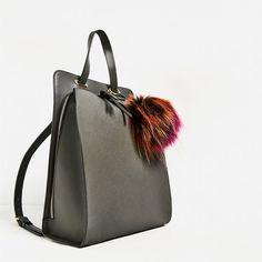Image 1 of POMPOM CROSSBODY BACKPACK from Zara