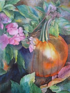 """""""Last Warm Day in October""""  watercolor by Marcianne Wagner-Heaton"""
