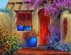 pintura-de-flores-al-oleo-con-espatula