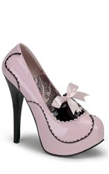 Bordello Black and Pink Patent Shoes £61.99